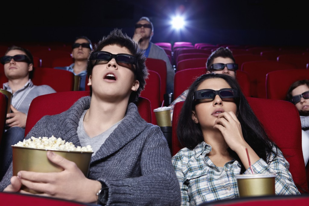 People at movie theaters