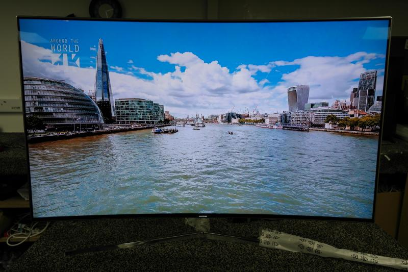 """49"""" Samsung UE49KS9000 4K SUHD Freeview Freesat HD Smart Curved LED HDR TV"""