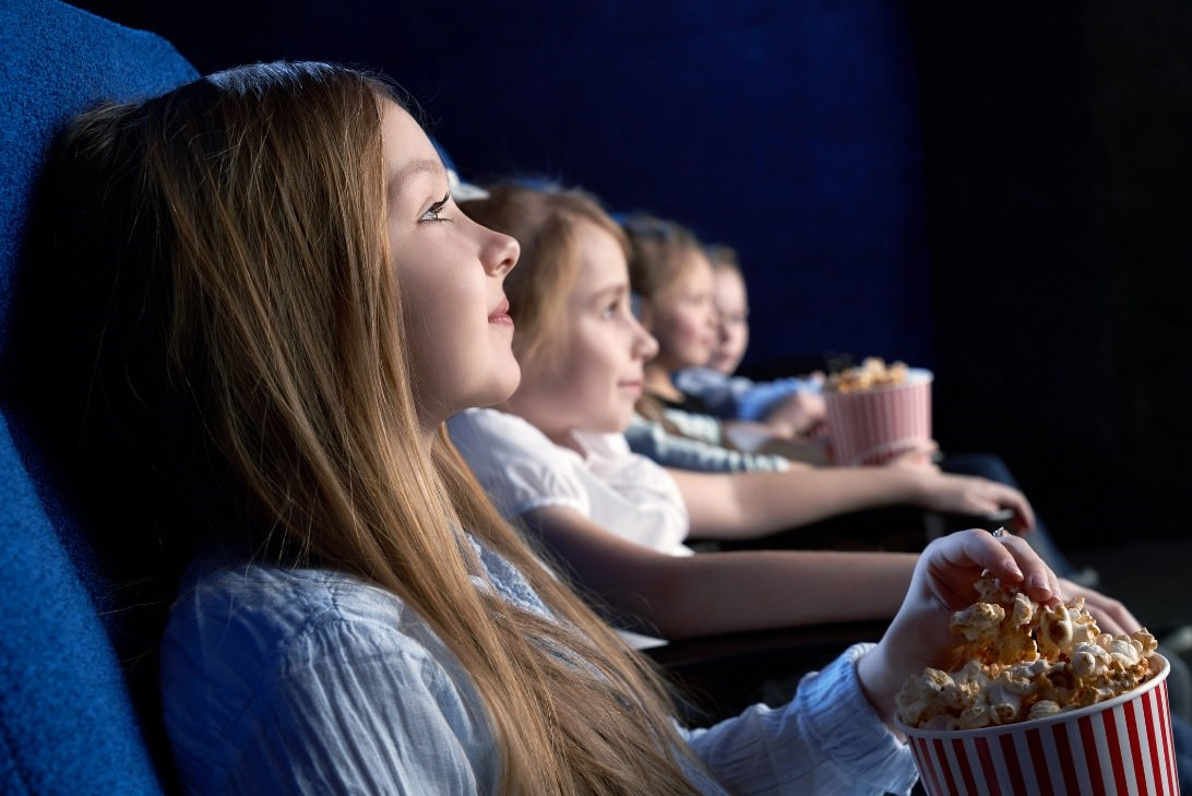 watching film at the cinema