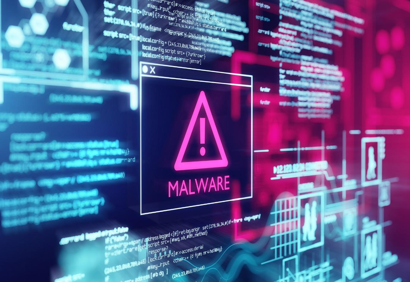 malware warning on screen