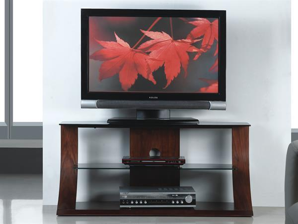 JF-201 1100mm Jual Curved Real Wood Walnut TV Stand
