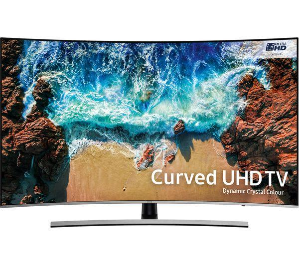 "55"" Samsung UE55NU8500 4K Certified Ultra HD HDR 1000 Smart Curved LED TV"