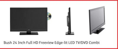 24 Bush LED24970DVDFHD Full HD 1080p Digital Freeview LED DVD TV