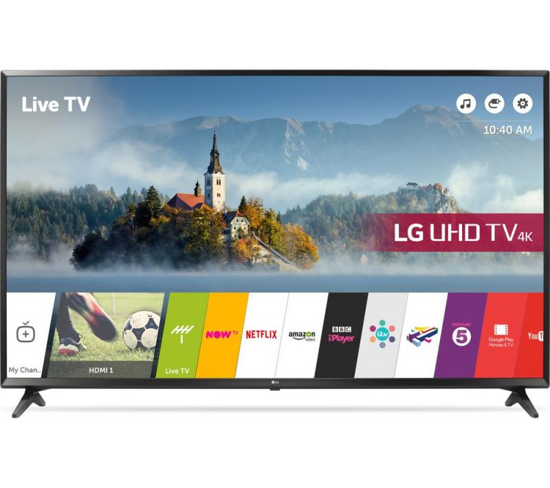 49 LG 49UJ630V 4K Ultra HD Freeview HD Smart HDR LED TV