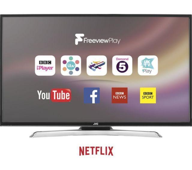 """55"""" JVC LT-55C870 4K Ultra HD Freeview HD Smart LED TV"""