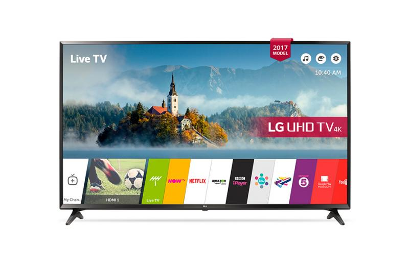 "60"" LG 60UJ630 4K Ultra HD Freeview Freesat HD HDR Smart LED TV"