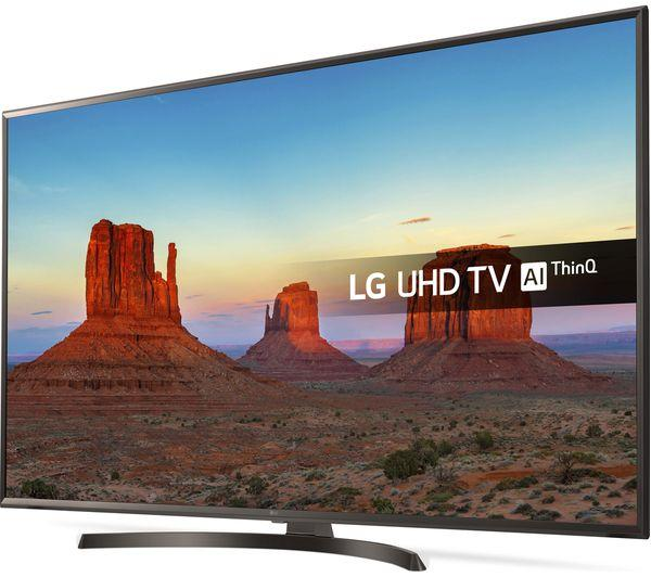 "49"" LG 49UK6470PLC 4K Ultra HD HDR Freeview Play Smart LED TV"