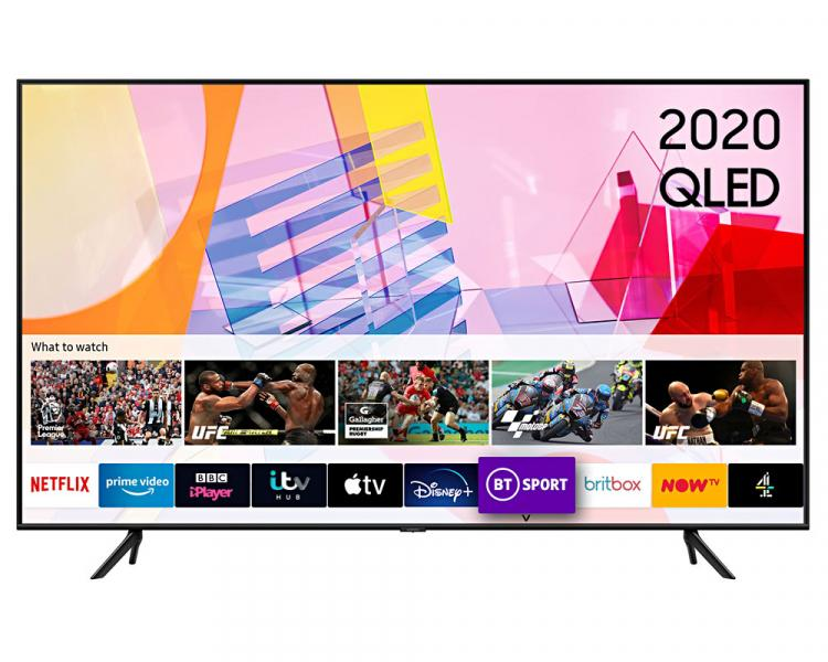 "50"" Samsung QE50Q60TAUXXU Crystal 4K Quantum HDR Smart QLED TV"